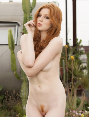 Nude outdoor redhead hairy older